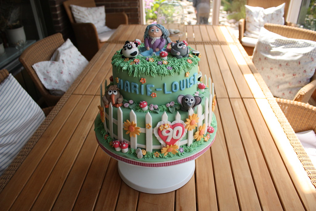Garden Theme Birthday Cake