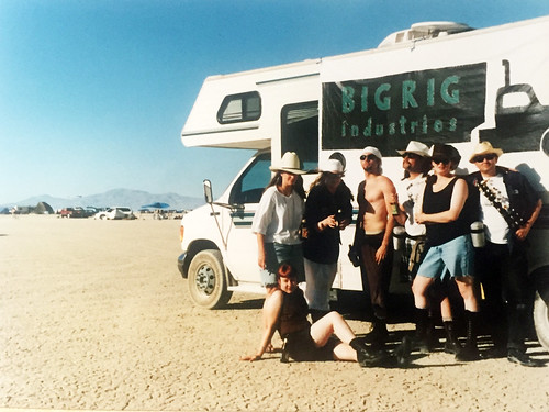 Camp Hasselhoff at Burning Man 1995 | by Rusty Blazenhoff