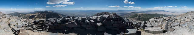 360° Pano from the inside of the circular wall atop Wheeler Peak, Great Basin National Park, NV.