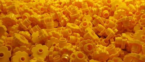 Yellow Lego Flowers