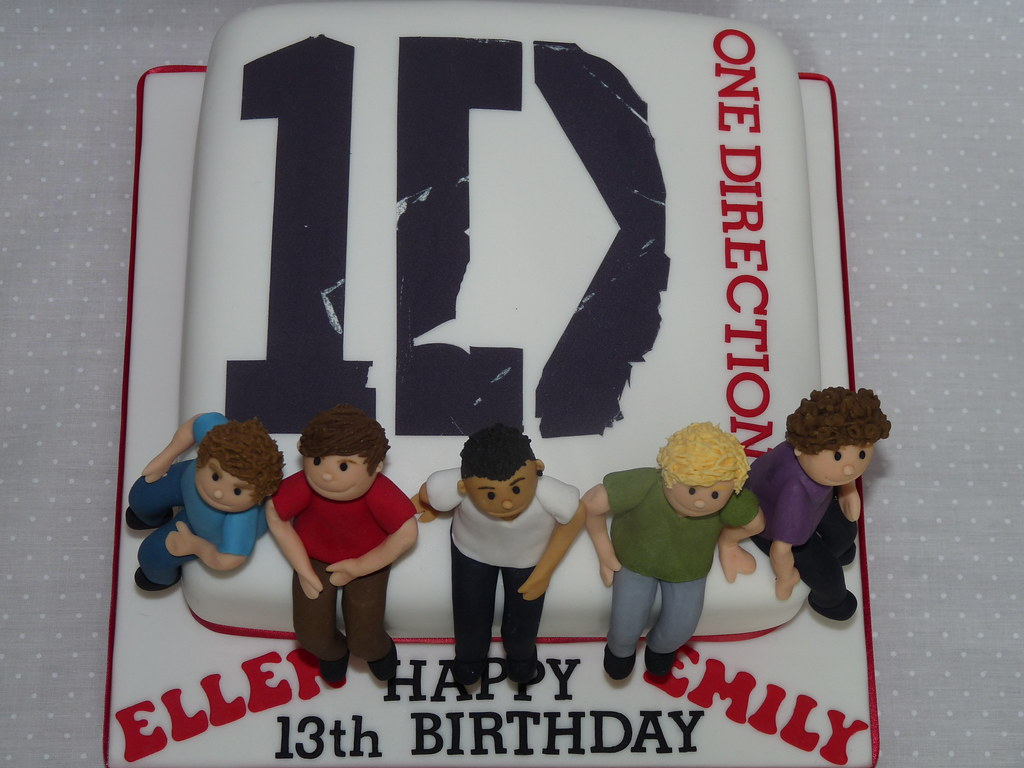 Strange One Direction Birthday Cake Vickiscakes Co Uk Flickr Funny Birthday Cards Online Elaedamsfinfo