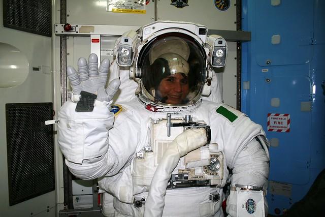 ESA astronaut Samantha Cristoforetti training at JSC