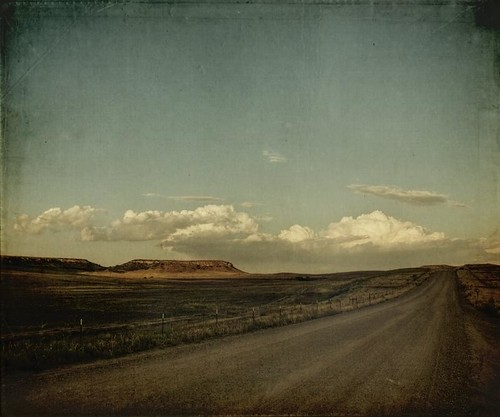 road sunset sky clouds rural canon vintage landscape colorado dusk grunge greenland co dirtroad aged textured messa t1i