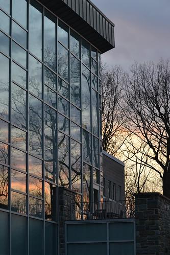 sunset on science center