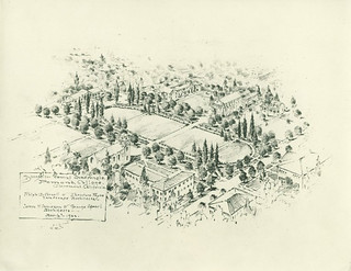 The 1922 architecture plans for Marston Quad