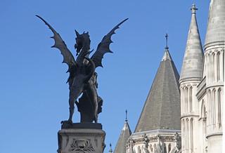 Temple Bar Dragon from Fleet Street   by Ronnie Macdonald