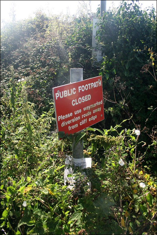 Closed footpath