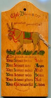 Esel-Barometer (Donkey Barometer)