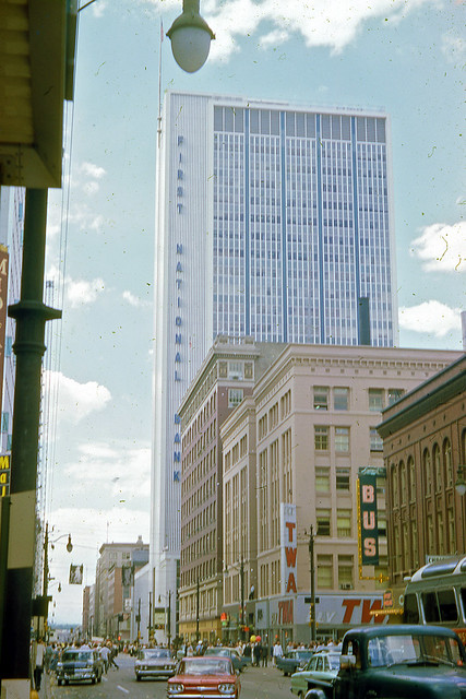 Kodachrome Slide of First National Bank Building, Denver, 1962