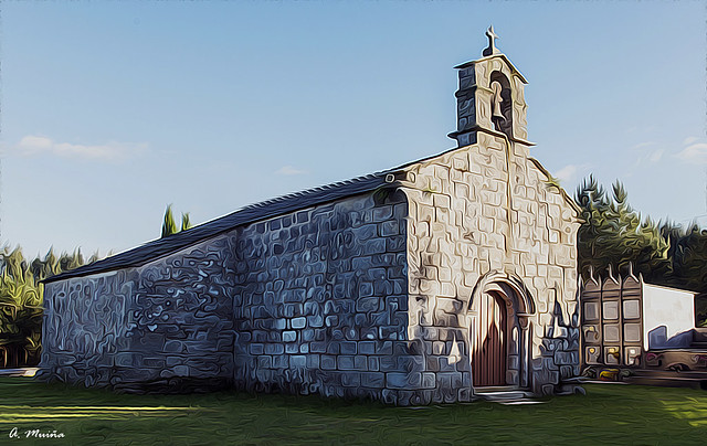 Romanesque church on the Camino de Santiago. Iglesia Románica en el Camino de Santiago