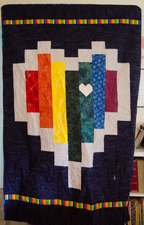 Sadly, none of my finished photos of this quilt contained a perfect straight-on shot of the quilt, but that's okay.