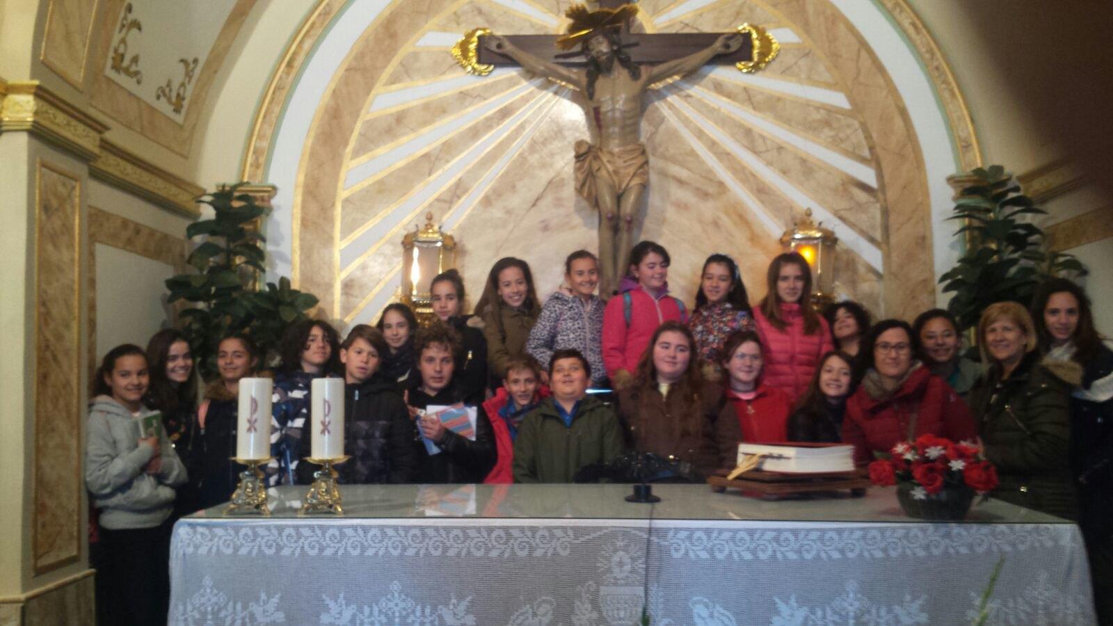 (2018-03-19) - Visita ermita alumnos Pilar,6º, profesora religión 9 Octubre - Marzo -  María Isabel Berenguer Brotons - (01)