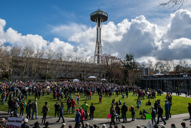 March for our lives...Seattle Center