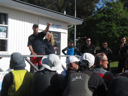 Bernard Sonck, Club Captain briefing the sailors
