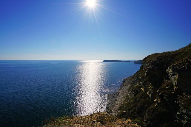 Splendid sunshine over Ussuri Bay, Russkiy Island
