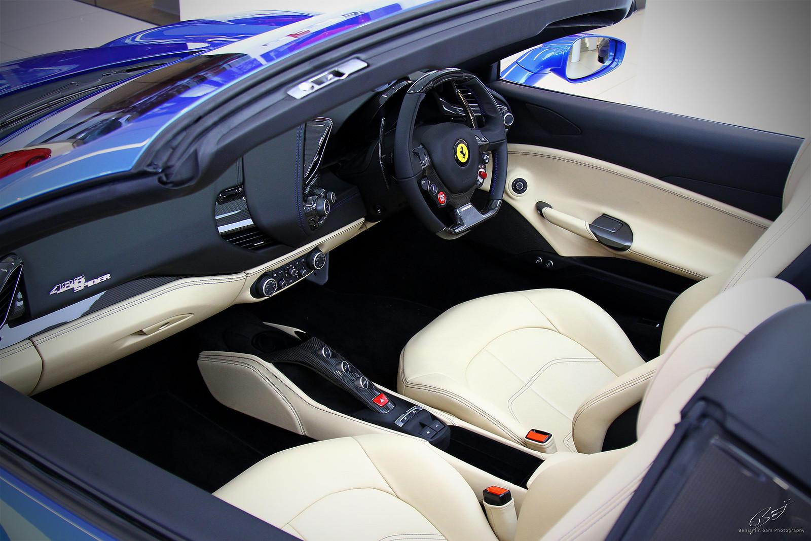 Ferrari 488 Spider Interior LR