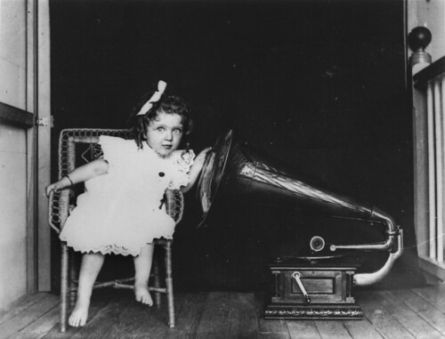 Doris Auguste Heindorff listening to a gramophone, New Farm, Queensland, ca. 1905 | by State Library of Queensland, Australia