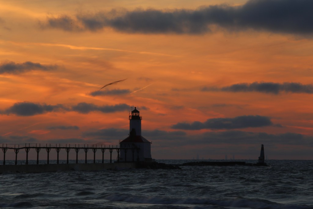 The Chicago Skyline As Viewed From Michigan City Indiana Flickr