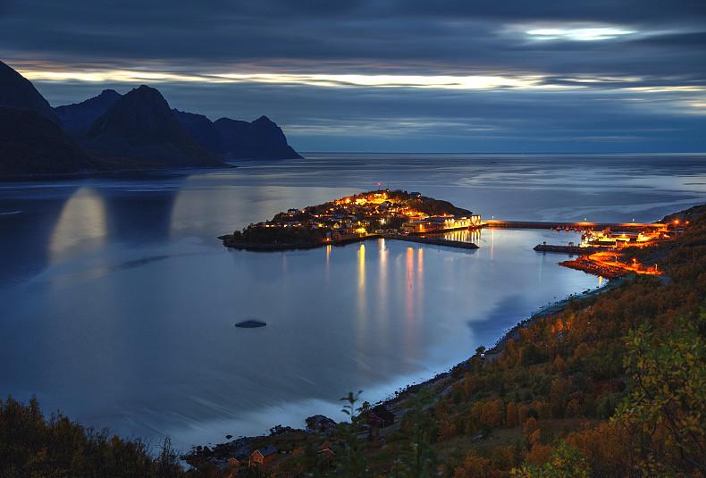 Husoy Evening Husoy Village Senja Island Norway On A Ca Flickr