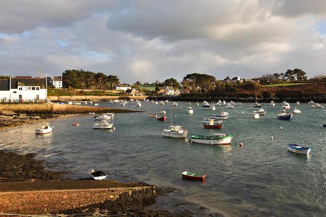 Portsall / Bretagne / Finistère / High tide