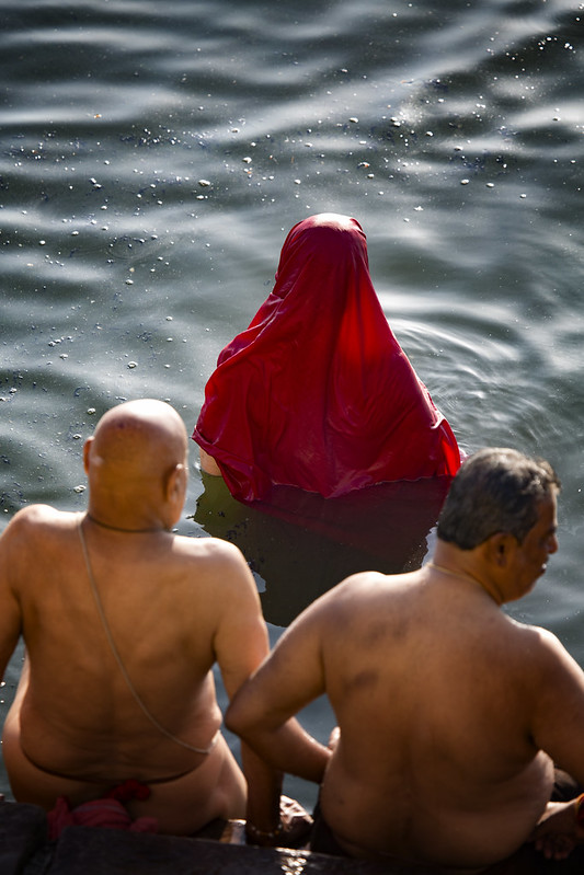 Morning Ablutions In The Ganges River, Varanasi