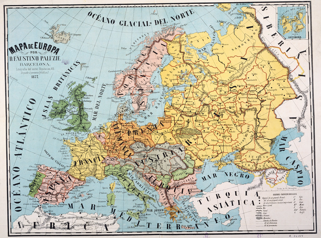 europa mapas políticos 1877   mapa de europa / por faustino …   flickr
