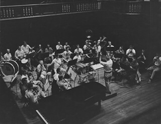 Professor William Russell and the Pomona College Band in 1959