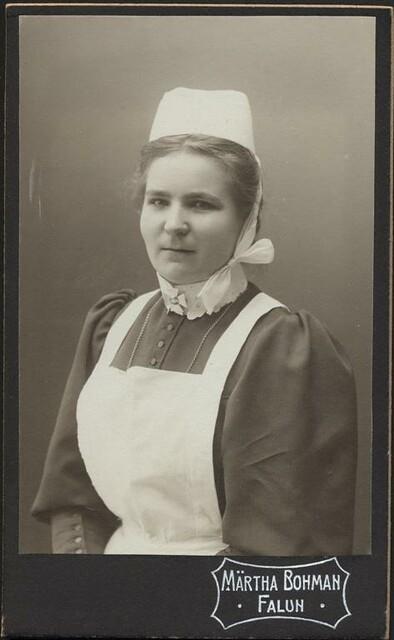 Portrait of a nurse by Märtha Bohman in Falun