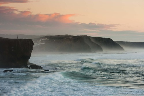 sunset portugal canon landscape coast waves watching atlantic algarve 400d praiademonteclerigo