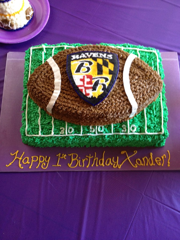 Awesome Baltimore Ravens Football Cake Imakecakes Flickr Birthday Cards Printable Opercafe Filternl