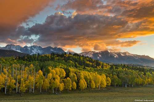 autumn sunset mountains fall colors clouds landscape colorado aspens ridgway sanjuanmountains ouray dallasdivide nikond7000