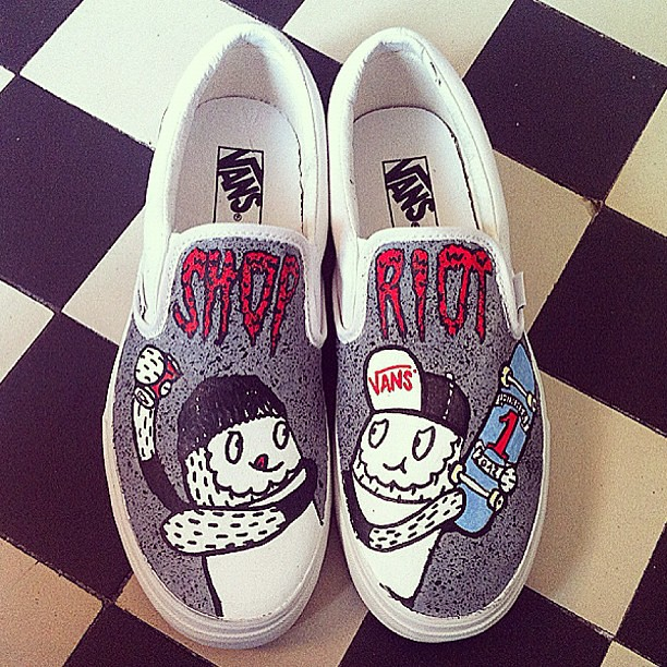 c111621810 ... Custom Vans I made for the Vans Shop Riot Sweden and Denmark 2012 which  went down