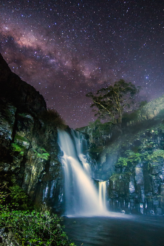 Lal Lal Falls under the Milky Way