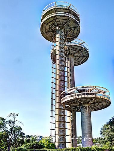 newyork newyorkcity nyc flushingmeadowpark queens 1964worldsfair newyorkpavilion observationtowers 1964worldsfairobservationtowers robertmoses olympuse5 olympuszuikodigitaled1442mmf3556lens