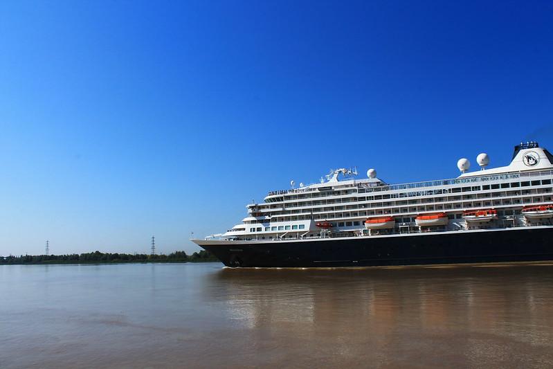 Arrivée du paquebot Prinsendam - Port de Bordeaux / Bassens - 08 septembre 2012