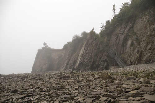 Cape Enrage Cliff Stairs | by Molly's Corner , Looking Back!