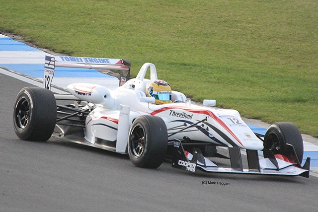 Nick McBride in Formula Three Racing at Donington Park, September 2012