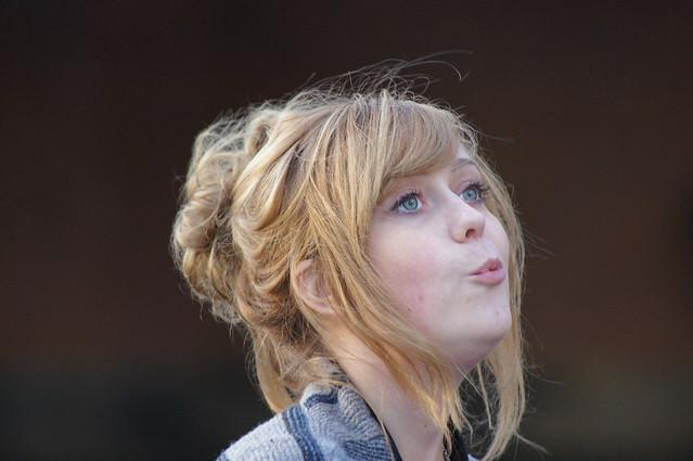 Street singer in London