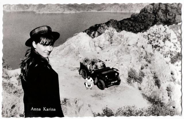 Anna Karina in Le soleil dans l'oeil (1962)