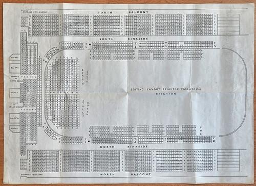 Sports Stadium Brighton Seating Plan 1963   A souvenir ...