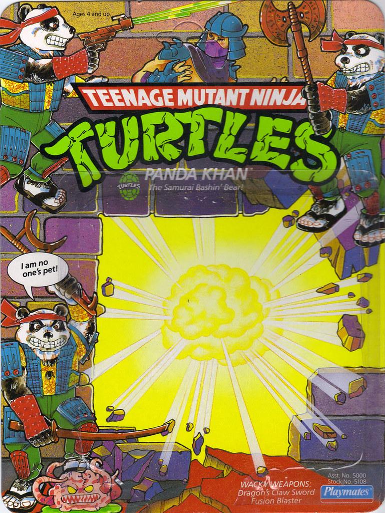 TEENAGE MUTANT NINJA TURTLES :: PANDA KHAN ..card backer i (( 1990 )) by tOkKa