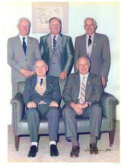 Cyril Cockshell, Colin Lienert, Les Pfitzner, seated Syd Dawkins, Don Barkley 1988 all past presidents of Gawler Show Society