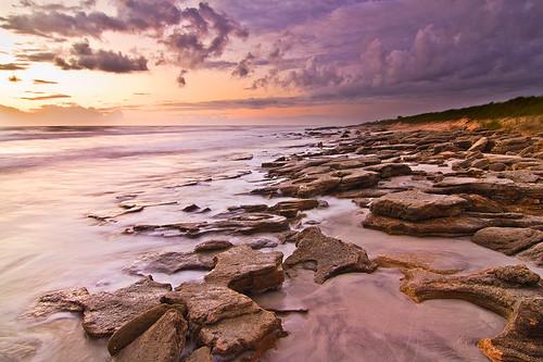 sunrise dawn rocks florida marinelandbeach flaglercounty floridacoastline