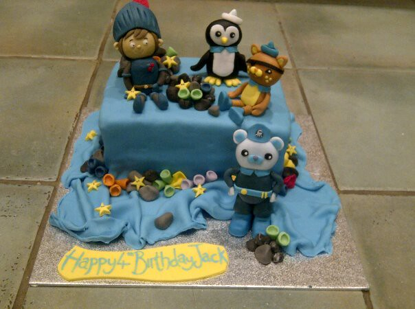 Phenomenal Octonauts And Mike The Knight Birthday Cake Kinderella Cakes Funny Birthday Cards Online Eattedamsfinfo