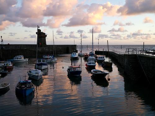harbour sunrise clouds walking hiking south west coast path swcp lynmouth devon england united kingdom uk panasonic lumix gx1 g 20mm f17