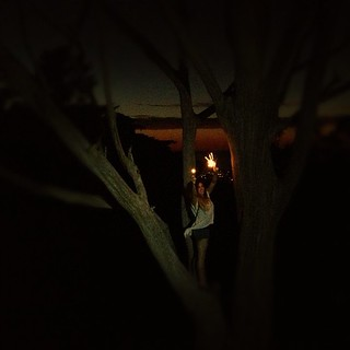 @amyrad in #thatsftree with sparklers. Brave girl!   by sarahwulfeck