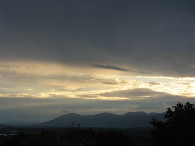 Evening sky over the Catskills