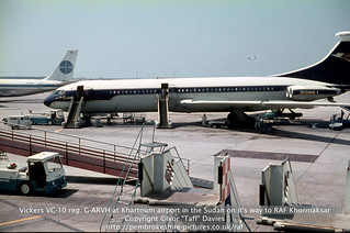 Vickers VC-10 reg. G-ARVH at Khartoum airport in the Sudan on it's way to RAF Khormaksar