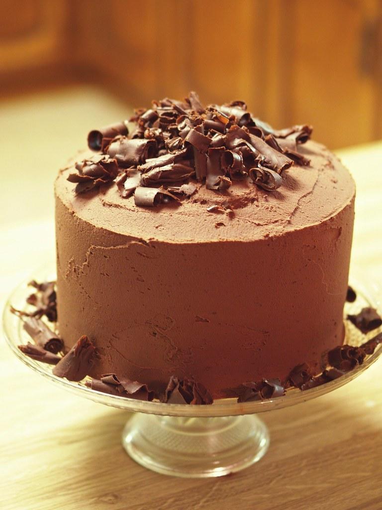 Wondrous Big Chocolate Birthday Cake From The Pioneer Woman It Was Flickr Personalised Birthday Cards Veneteletsinfo