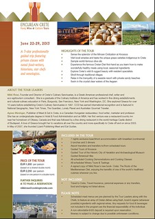 Crete's Culinary Sanctuaries June 2013 Open Seminar